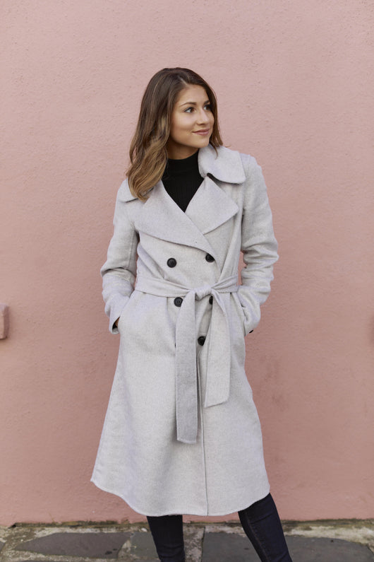Cloudy Day Grey Pea Coat