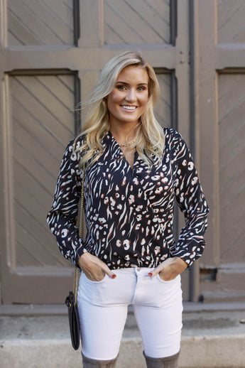 All in the Print Blouse