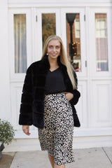 Little Miss Leopard Midi Skirt