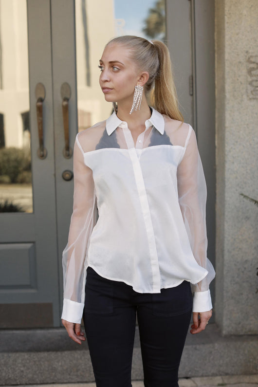 Sheer Details Blouse