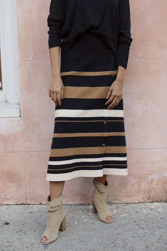 Buttons and Stripes Skirt