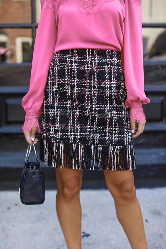 Catch Me If You Can Fringe Skirt