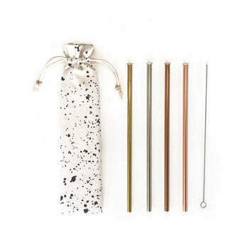 6pc Reusable Straw Set