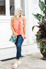 Pink Palm Bucket Bag - Maris DeHart