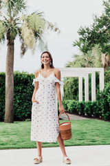 Fairest Of All Button Down Dress- Dot - Maris DeHart