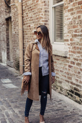Power Suede Trench Coat - Maris DeHart