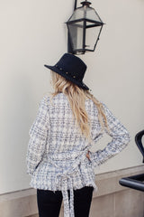 Style Icon Frayed Tweed Jacket