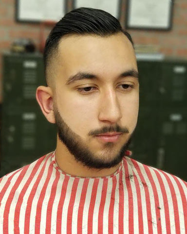 how to style a classic comb-over with hair pomade