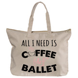 Belle 'ALL I NEED' Zippered Tote