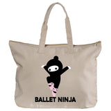 Belle 'BALLET NINJA' Zippered Tote