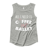Belle 'BALLET & COFFEE' Muscle Tee