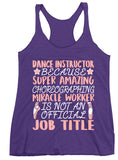 Belle 'DANCE INSTRUCTOR' Tank