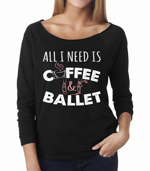 Belle 'COFFEE & BALLET' French Terry Long Sleeve