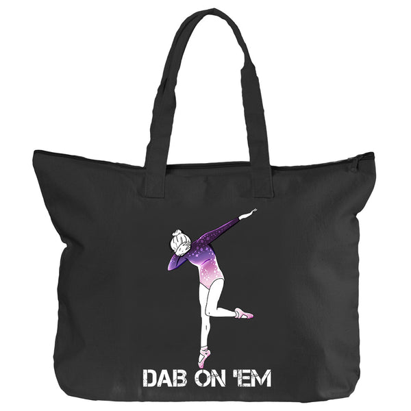 Belle 'DAB ON EM' Zippered Tote