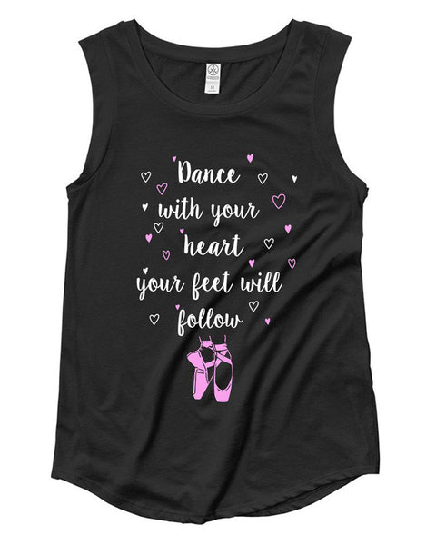 Belle 'With Your Heart' Muscle Tee