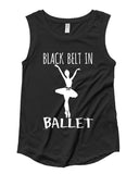 Belle 'BLACK BELT' Muscle Tee