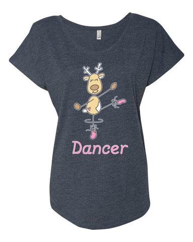 Belle 'DANCER THE REINDEER' Tee PINK