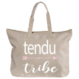 Belle 'TENDU TRIBE' Zippered Tote