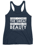 Belle 'FIRST COME THE SWEAT' Tank