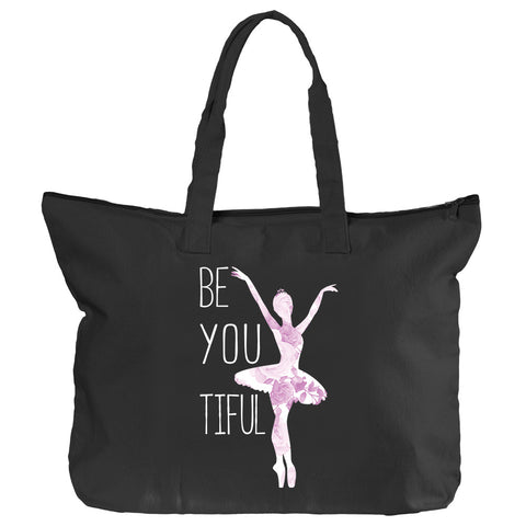 Belle 'BEYOUTIFUL' Zippered Tote