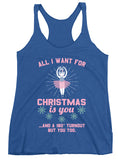 Belle 'ALL I WANT FOR CHRISTMAS' Tank PINK