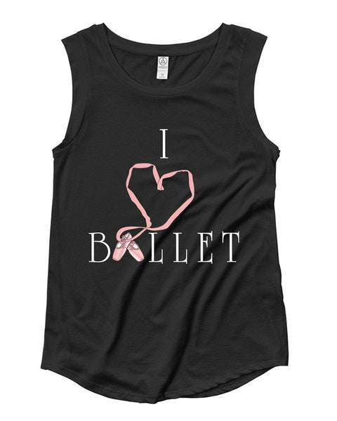 Belle 'I LOVE BALLET' Muscle Tee