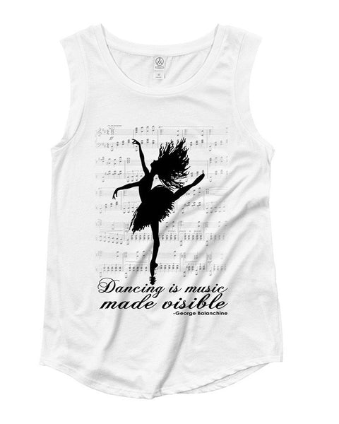 Belle 'MUSIC MADE VISIBLE' Muscle Tee