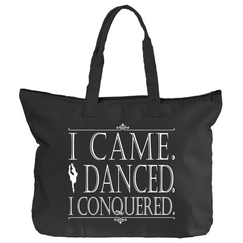Belle 'CONQUERED' Zippered Tote