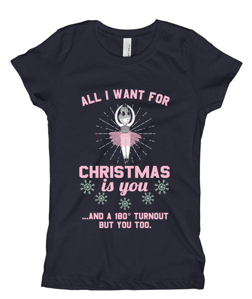 Belle Princess 'ALL I WANT FOR CHRISTMAS' Tee PINK