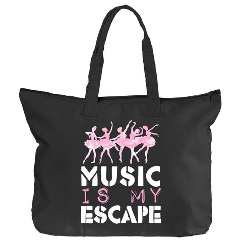 Belle 'MY ESCAPE' Zippered Tote