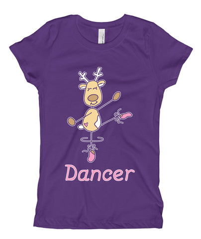 Belle Princess 'DANCER THE REINDEER' Tee PINK