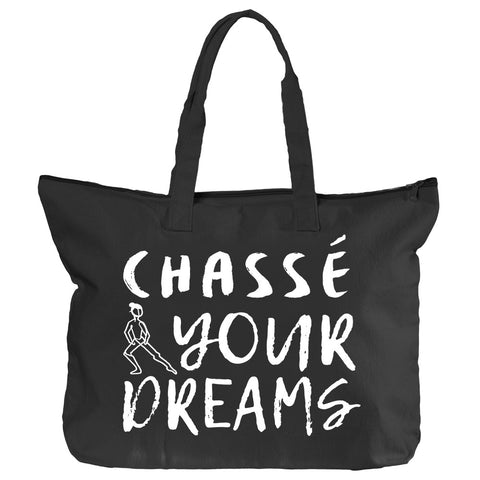 Belle 'CHASSÉ YOUR DREAMS' Zippered Tote