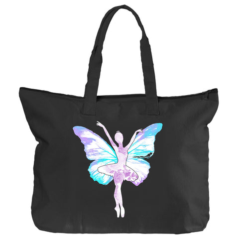 Belle 'BUTTERFLY' Zippered Tote