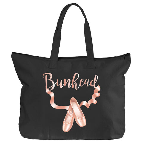 Belle 'BUNHEAD' Zippered Tote
