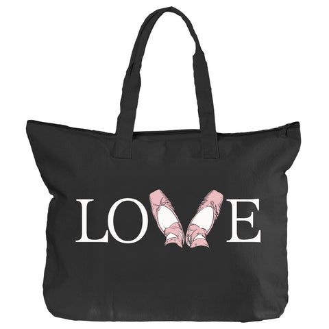 Belle 'LOVE' Zippered Tote