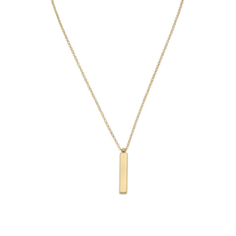 14k Vertical Bar Necklace