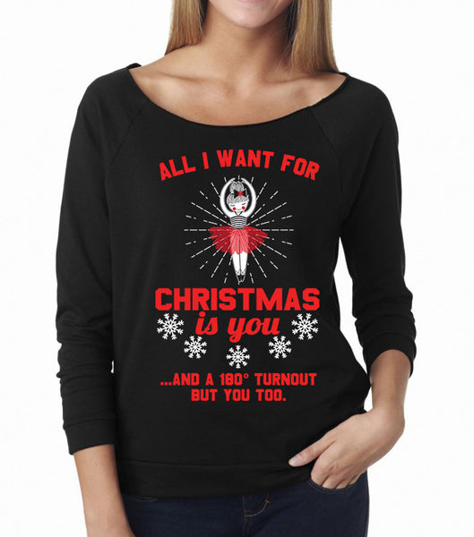 Belle 'ALL I WANT FOR CHRISTMAS' French Terry Long Sleeve