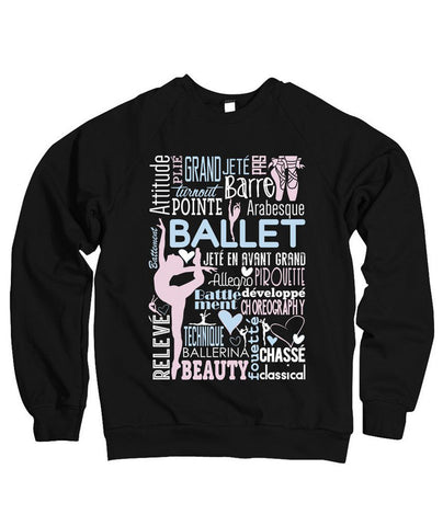 Belle Princess 'BALLET COLLAGE' Crewneck