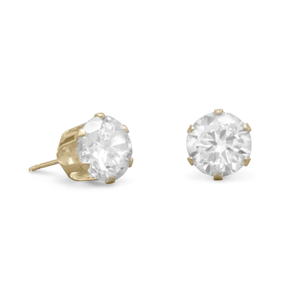 14k Large Diamond Studs