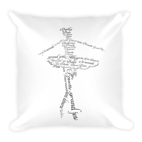 Belle 'A BALLERINA'S VOCABULARY' Accent Pillow