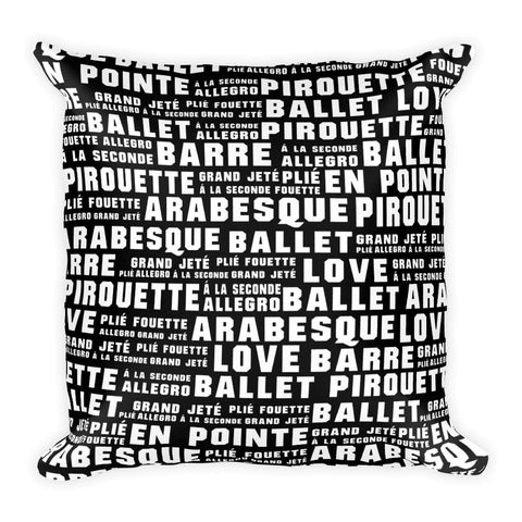 Belle 'BALLET WORDS' Accent Pillow