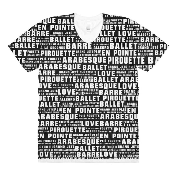 'BALLET WORDS' All-Over Graphic Tee