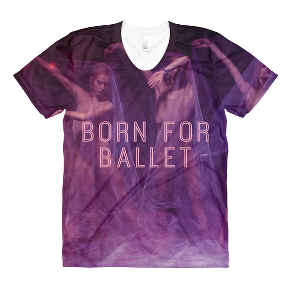 'BORN FOR BALLET' All-Over Graphic Tee