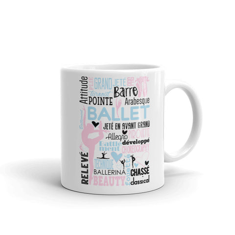 Belle  'BALLET COLLAGE' Coffee Cup