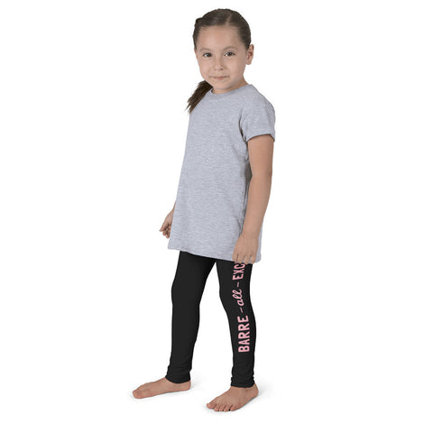 Belle Girl's 'BARRE ALL EXCUSES' Leggings