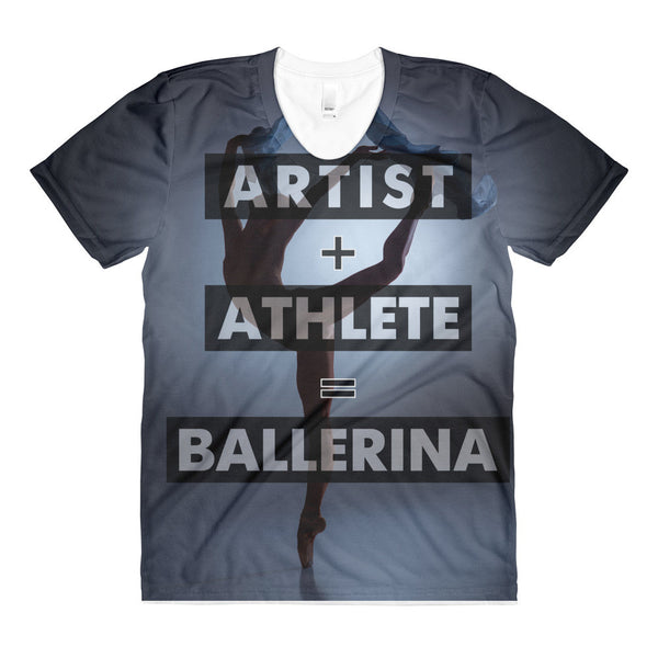 'ARTIST + ATHLETE' All-Over Graphic Tee
