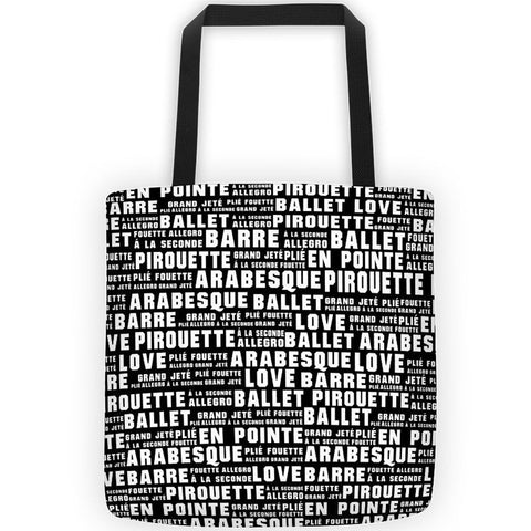 Belle 'BALLET WORDS' All-Over Tote