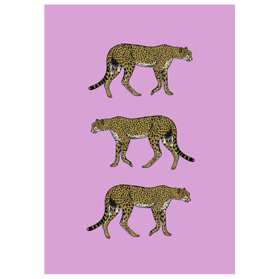 PINK LEAPORDS PRINT