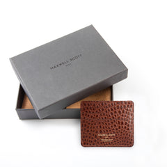 Image 5 of the 'Marco' Chestnut Mock Croc Veg-Tanned Leather Wallet