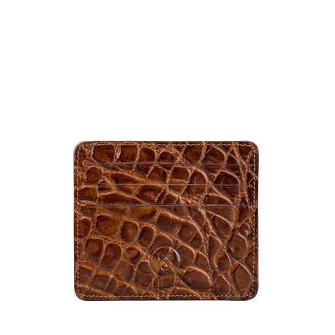 Image 1 of the 'Marco' Chocolate Croco Veg-Tanned Leather Wallet